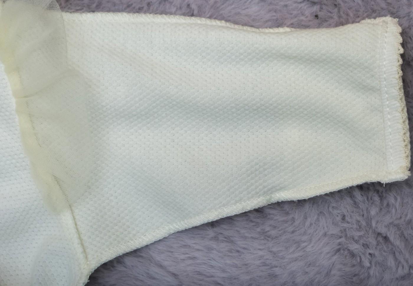 Слип с фатиновой юбочкой и розочками